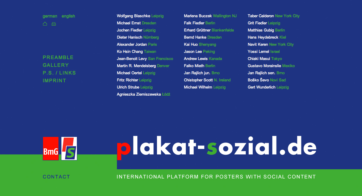 Plakat sozial international platform for posters with social content