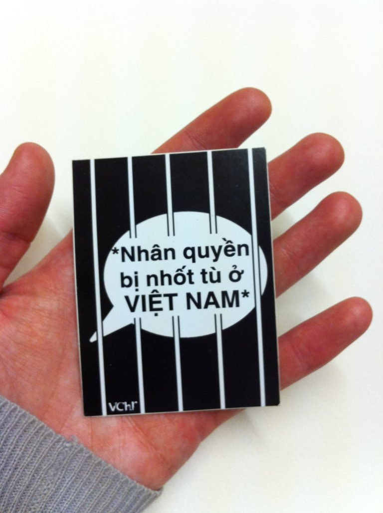 freedom of speech - fidh vietnam sticker