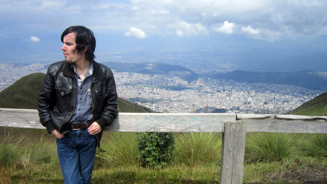 at the top of Quito
