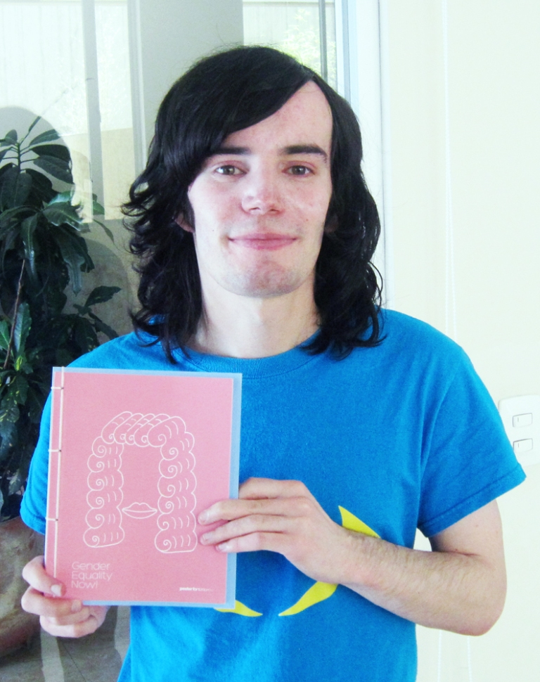 Christopher Scott and the 'Poster for Tomorrow Gender Equality Now' Book