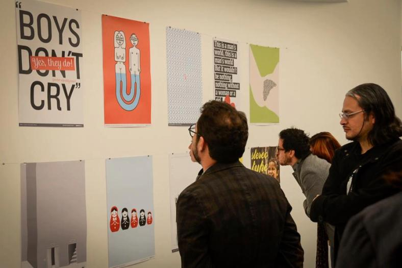 My poster Female surrounded at Posterfortomorrow Mexico city 1