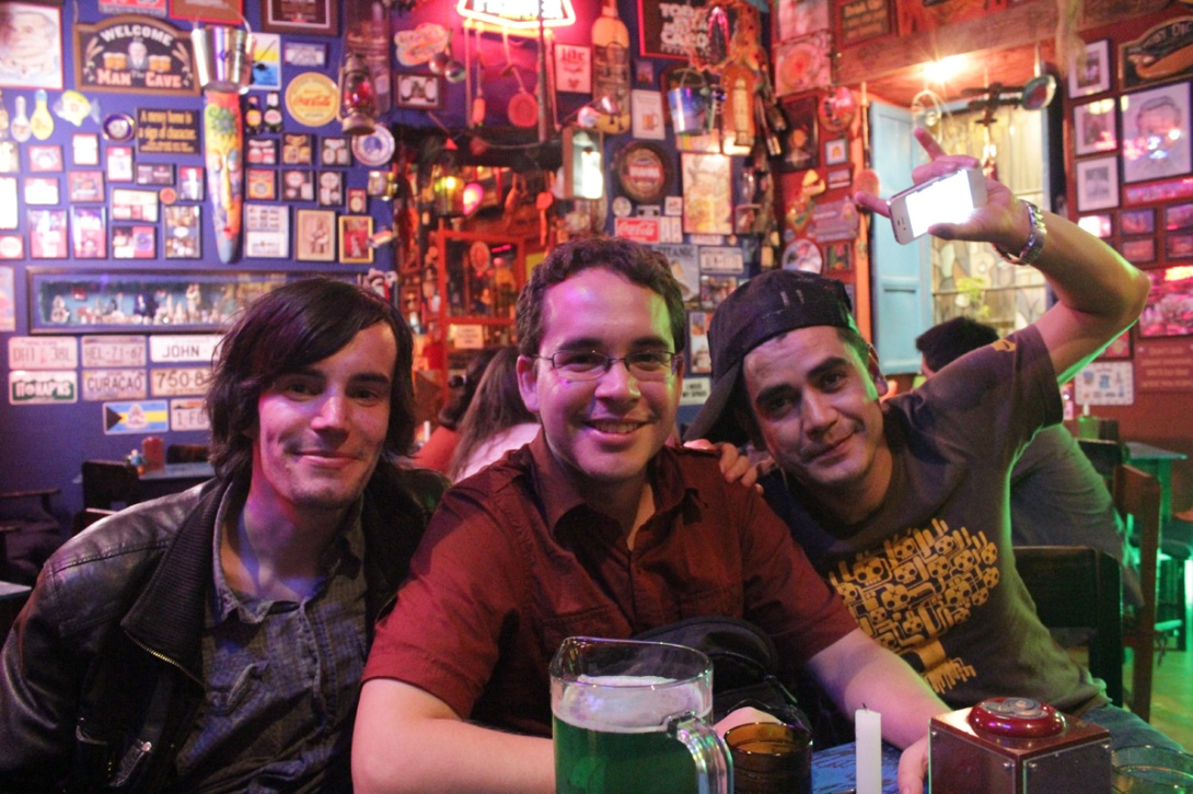 Me, Javier Pérez and Christian Lasso