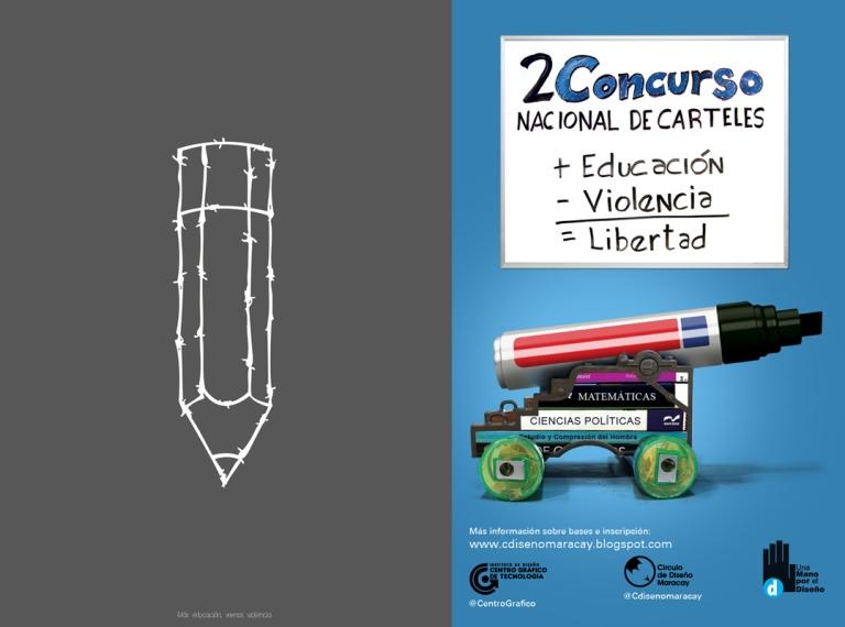 Pencil-wire-2-Concurso-de-Carteles-Una-Mano-por-el-Diseno