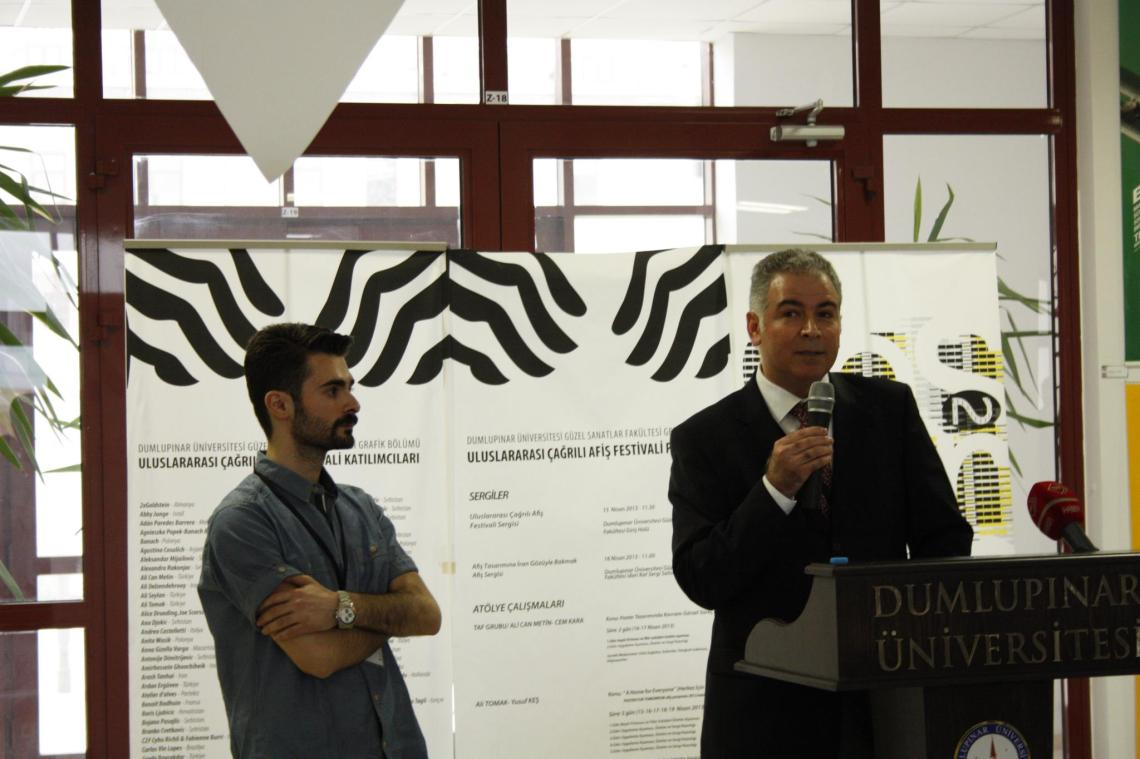 The opening ceremony of the International Invitational Poster Festival in Turkey