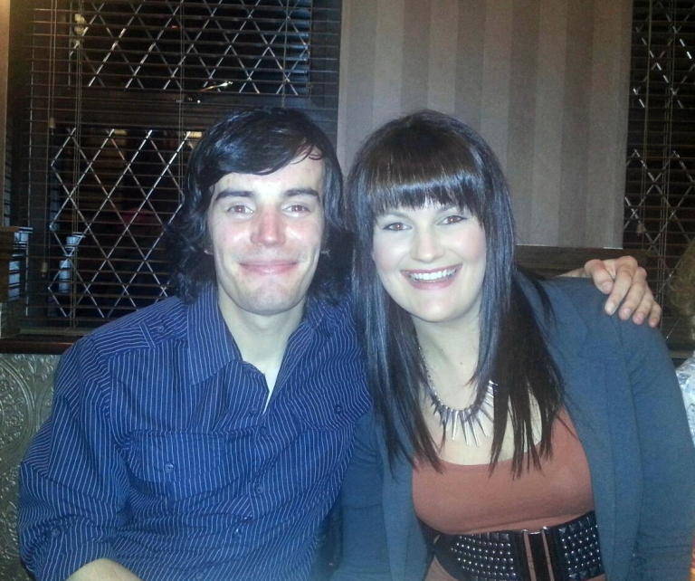 Me and my sister - oct 2012