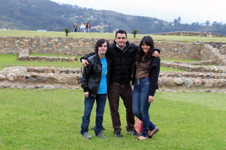 Me, Christian Lasso and Viviana Urvina - Ingapirca Ruins