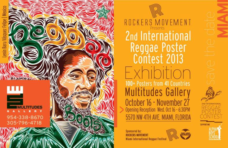 International Reggae Poster Contest Exhibition, Miami FL