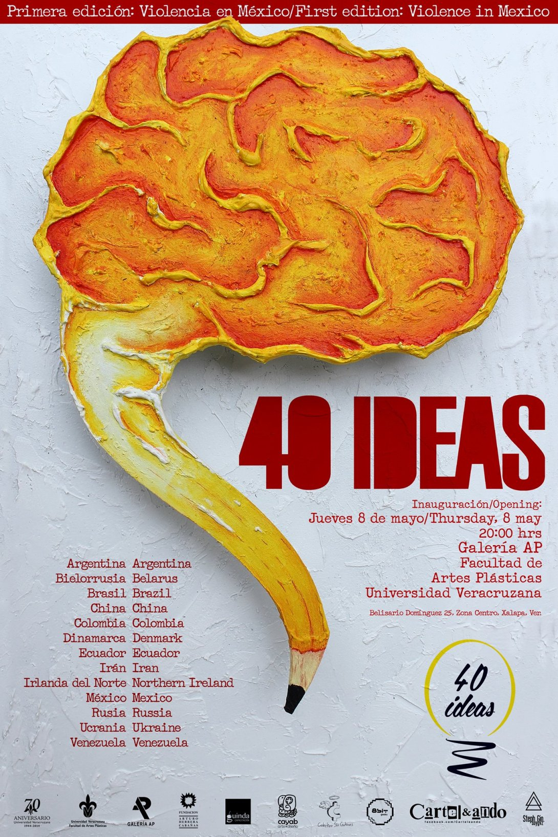 40 Ideas promotional poster