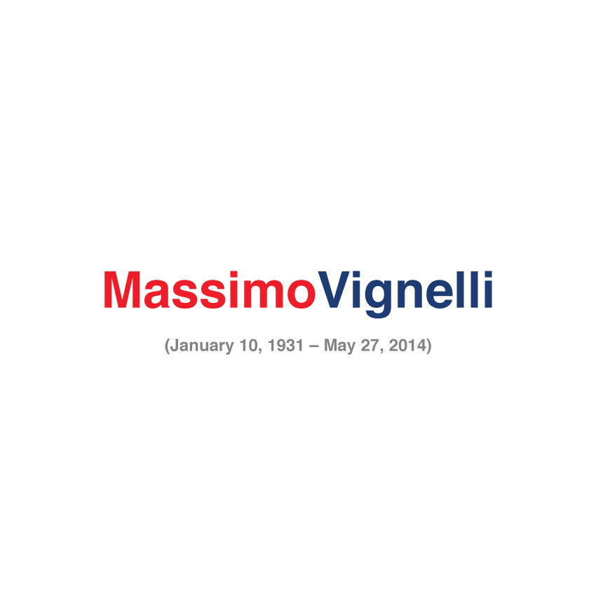 Goodbye Massimo Vignelli