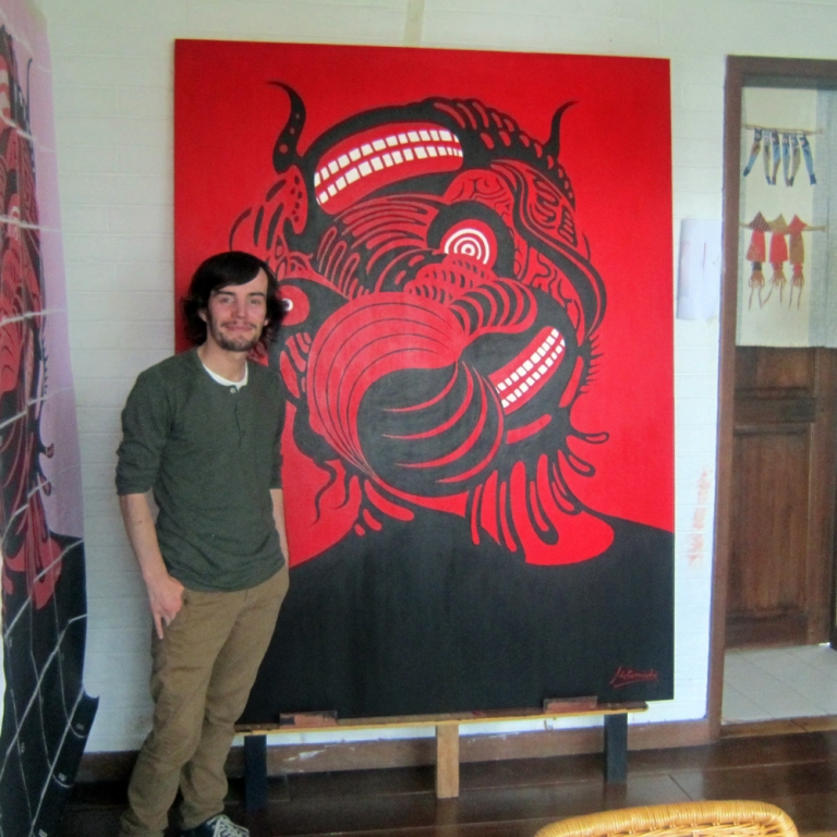 with-motomichi-painting